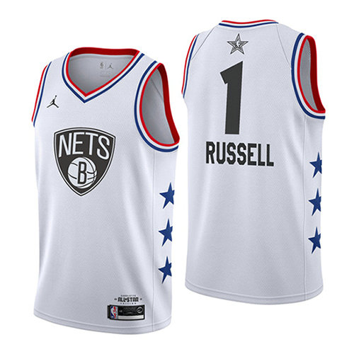 Camiseta nba All Star 2019 Hombre Dangelo Russell 1 Blanco