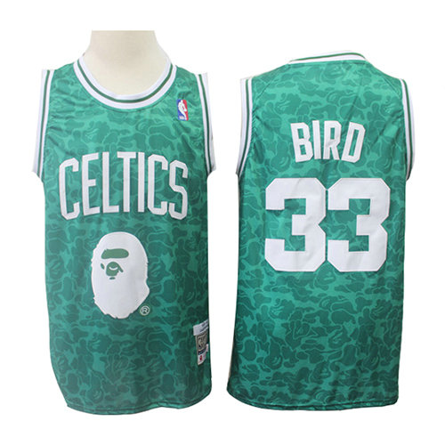 Camiseta nba Boston Celtics Mitchell & Ness Hombre Larry Bird 33 Verde