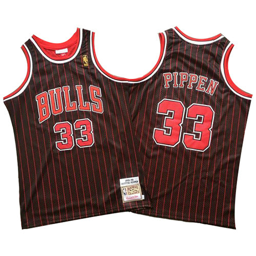Camiseta nba Chicago Bulls Mitchell & Ness Hombre Scottie Pippen 33 Negro