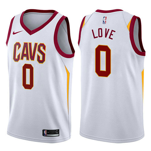 Camiseta nba Cleveland Cavaliers 2017-18 Hombre Kevin Love 0 Blanco