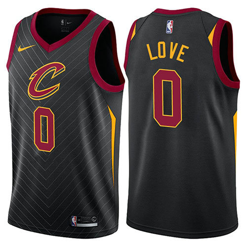 Camiseta nba Cleveland Cavaliers Statement 2017-18 Hombre Kevin Love 0 Negro