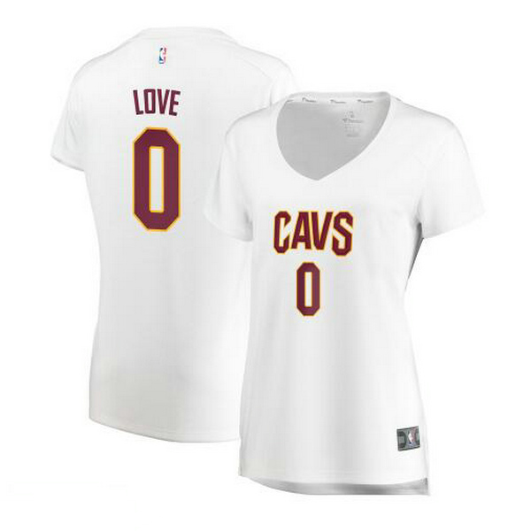 Camiseta nba Cleveland Cavaliers association edition Mujer Kevin Love 0 Blanco