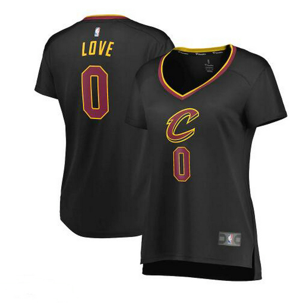 Camiseta nba Cleveland Cavaliers statement edition Mujer Kevin Love 0 Negro