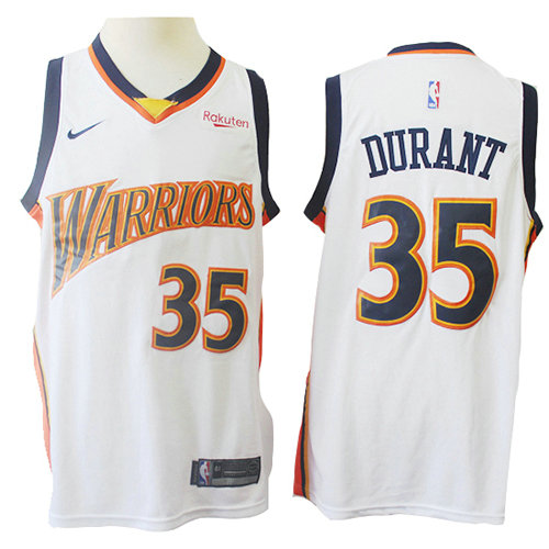 Camiseta nba Golden State Warriors Mitchell & Ness Hombre Kevin Durant 35 Blanco
