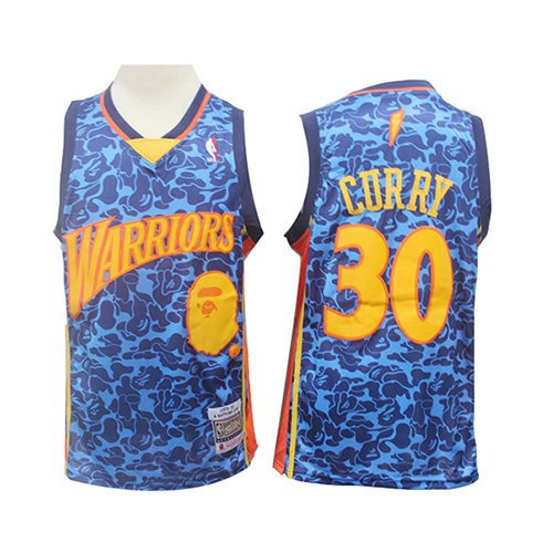 Camiseta nba Golden State Warriors Mitchell & Ness Hombre Stephen Curry 30 Azul