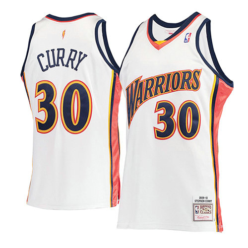 Camiseta nba Golden State Warriors Mitchell & Ness Hombre Stephen Curry 30 Blanco