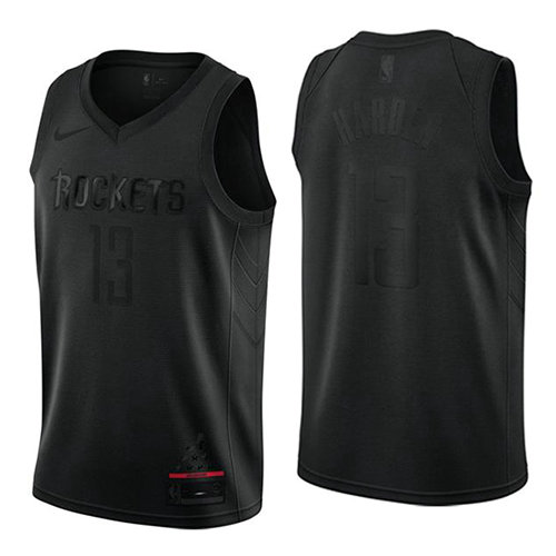 Camiseta nba Houston Rockets MVP Hombre James Harden 13 Negro