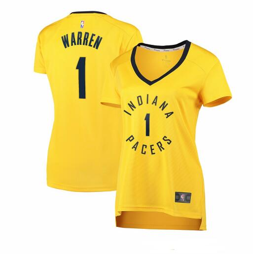 Camiseta nba Indiana Pacers statement edition Mujer TJ Warren 1 Amarillo