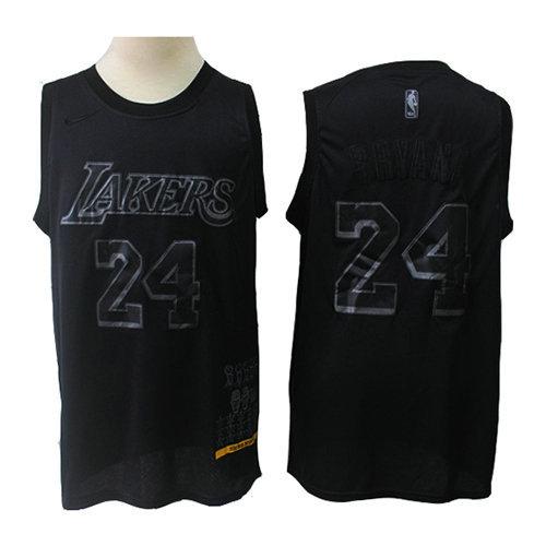Camiseta nba Los Angeles Lakers MVP Hombre Kobe Bryant 24 Negro