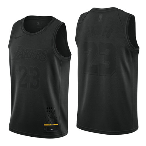 Camiseta nba Los Angeles Lakers MVP Hombre Lebron James 23 Negro