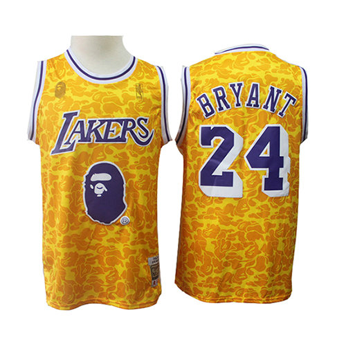 Camiseta nba Los Angeles Lakers Mitchell & Ness Hombre Kobe Bryant 24 Amarillo