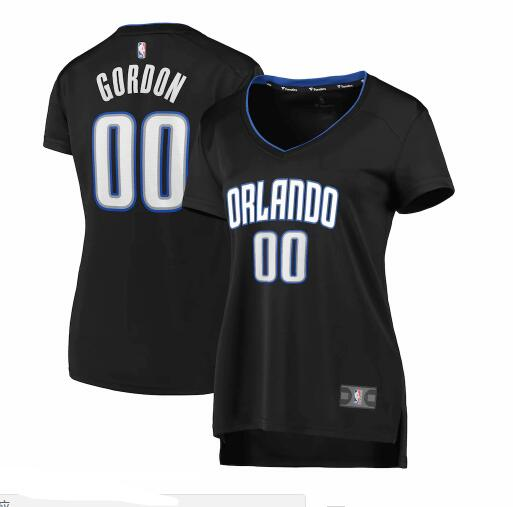 Camiseta nba Orlando Magic 2019 icon edition Mujer Aaron Gordon 0 Negro