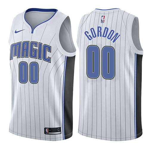 Camiseta nba Orlando Magic Association 2017-18 Hombre Aaron Gordon 0 Blanco