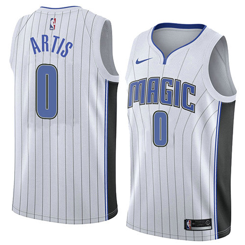 Camiseta nba Orlando Magic Association 2018 Hombre Jamel Artis 0 Blanco