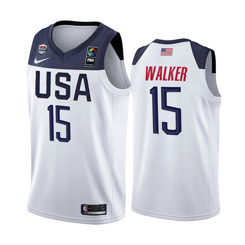 Camiseta nba USA 2019 Hombre Kemba Walker 15 Blanco