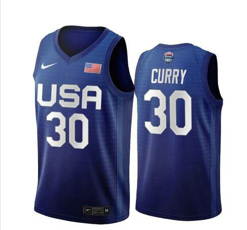 Camiseta nba USA 2020 USA Olimpicos 2020 Hombre Stephen Curry 30 azul