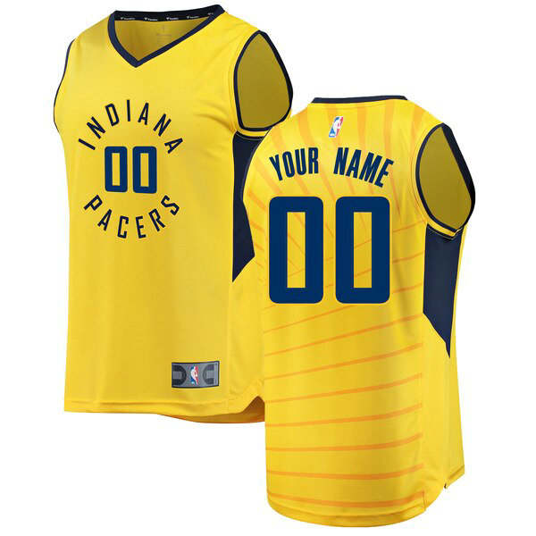 Camiseta nba Indiana Pacers Statement Edition Hombre Custom 0 Amarillo