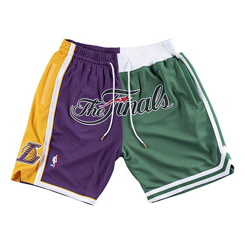 Pantalones Cortos nba Lakers VS Celtics Just Don 2008 Finals Hombre Azul