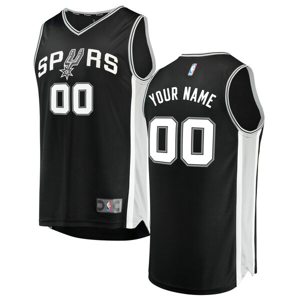 Camiseta nba San Antonio Spurs Icon Edition Hombre Custom 0 Negro
