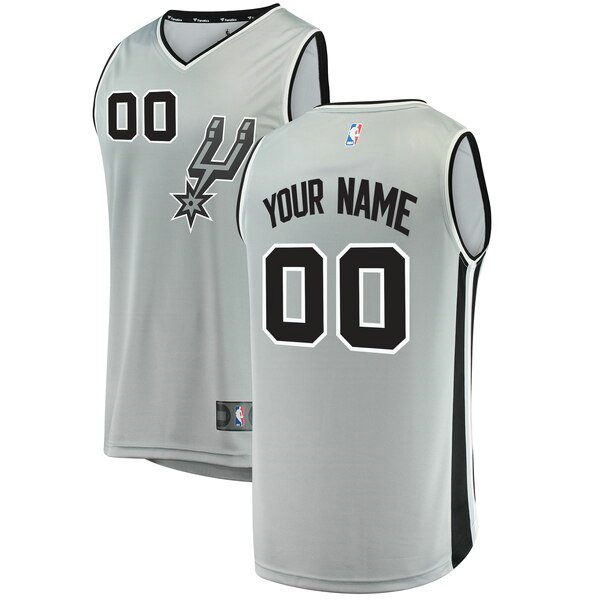 Camiseta nba San Antonio Spurs Statement Edition Hombre Custom 0 Gris